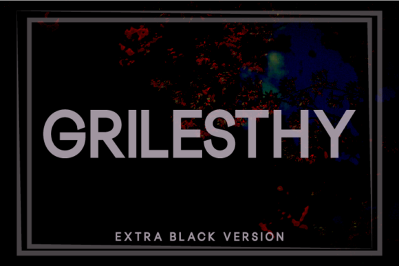 Print on Demand: Grilesthy Extra Black Sans Serif Font By Huntype