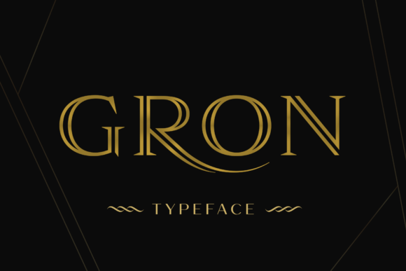 Print on Demand: Gron Serif Font By Pasha Larin