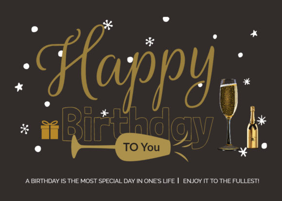 Happy Birthday to You! Graphic Illustrations By Hit Langs