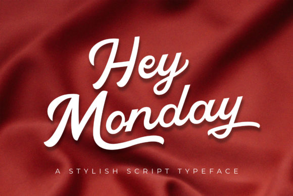 Print on Demand: Hey Monday Script & Handwritten Font By peterdraw