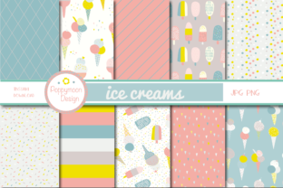 Print on Demand: Ice Cream Paper Graphic Patterns By poppymoondesign