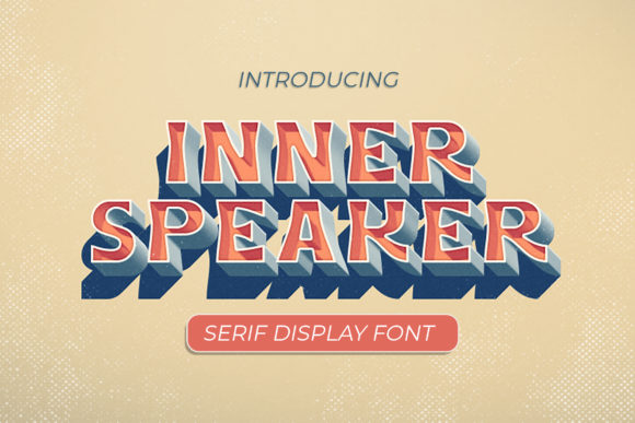 Print on Demand: Innerspeaker Display Font By peterdraw