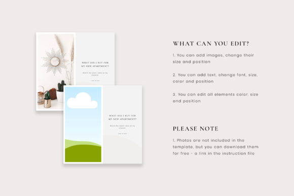 Download Free Instagram Post Canva Templates Clara Graphic By Stylishdesign for Cricut Explore, Silhouette and other cutting machines.