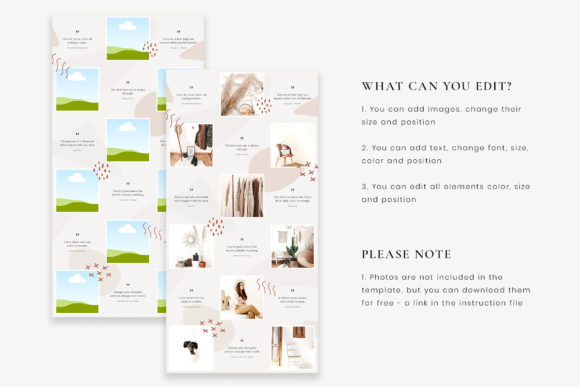 Download Free Instagram Puzzle Canva Template Clara Graphic By Stylishdesign Creative Fabrica for Cricut Explore, Silhouette and other cutting machines.