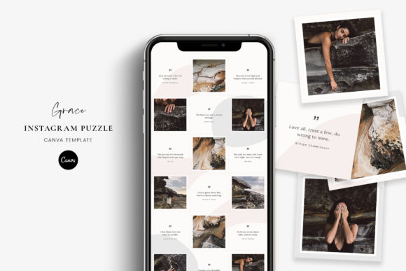 Download Free Instagram Puzzle Canva Template Grace Graphic By Stylishdesign Creative Fabrica for Cricut Explore, Silhouette and other cutting machines.