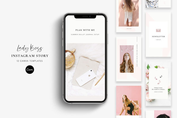 Download Free Instagram Stories Canva Lady Boss Grafico Por Stylishdesign for Cricut Explore, Silhouette and other cutting machines.