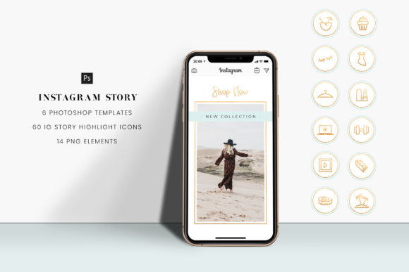 Download Free Instagram Stories Highlight Icons Graphic By Stylishdesign for Cricut Explore, Silhouette and other cutting machines.