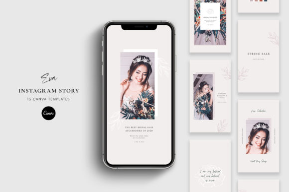 Download Free Instagram Story Canva Templates Eva Graphic By Stylishdesign for Cricut Explore, Silhouette and other cutting machines.