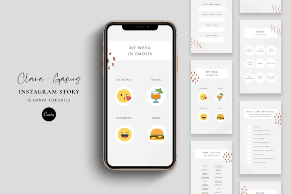 Download Free Instagram Story Games Canva Clara Graphic By Stylishdesign for Cricut Explore, Silhouette and other cutting machines.