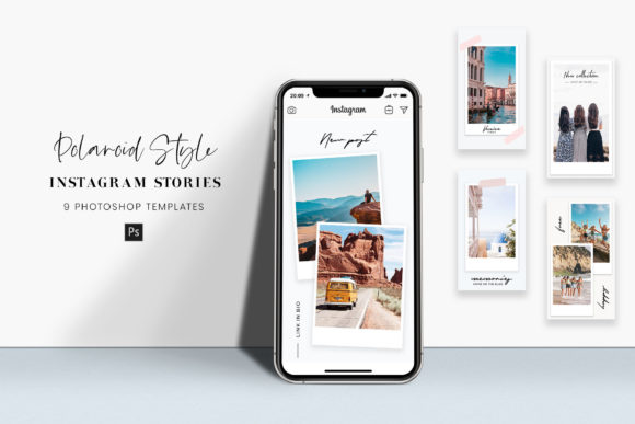 Download Free Instagram Story Photoshop Templates Graphic By Stylishdesign SVG Cut Files