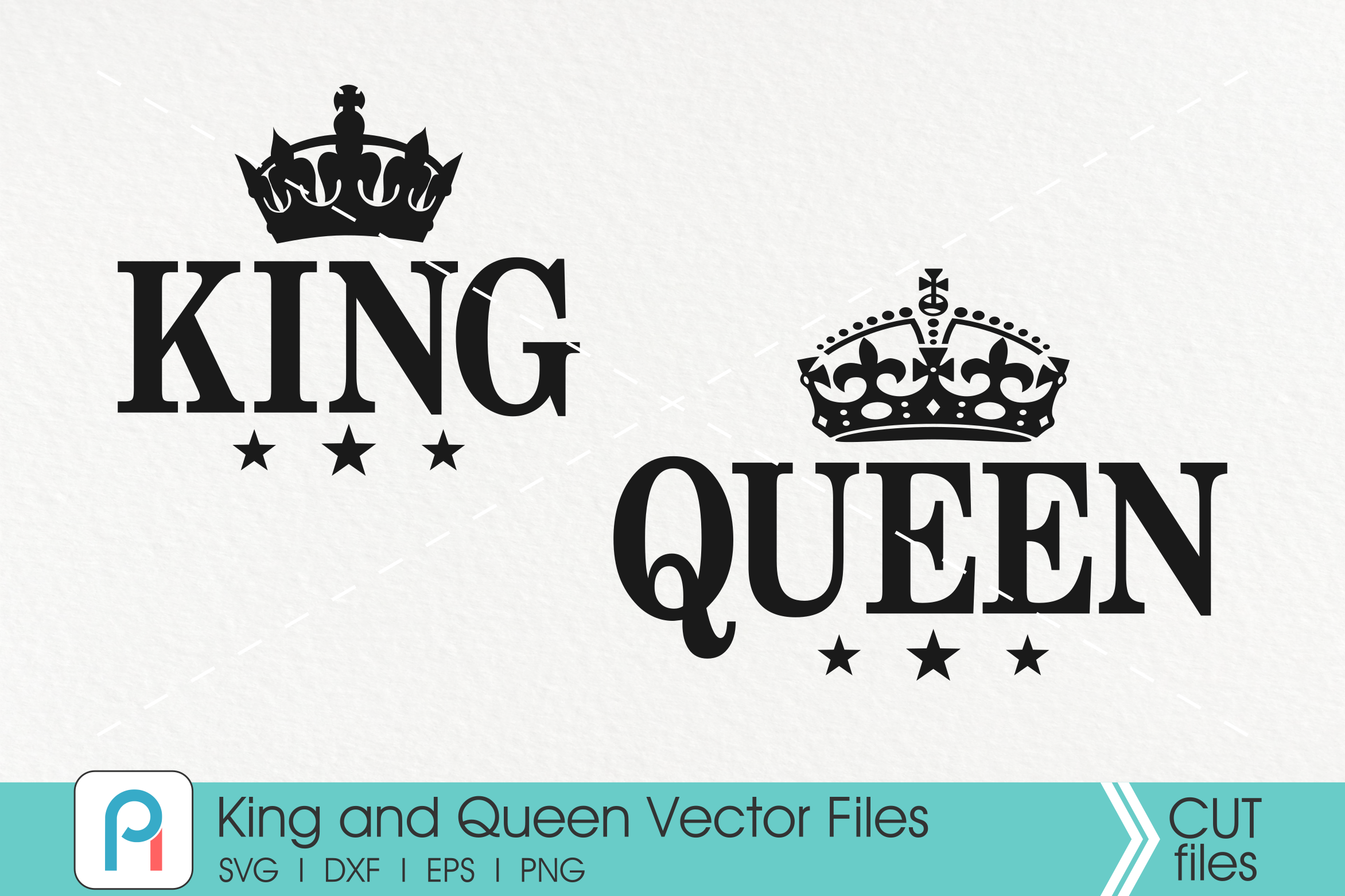 Download Free King And Queen Crown Graphic By Pinoyartkreatib Creative Fabrica SVG Cut Files