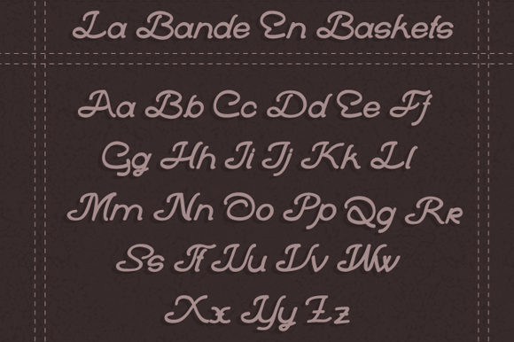 Print on Demand: La Bande En Baskets Script & Handwritten Font By qkila - Image 2