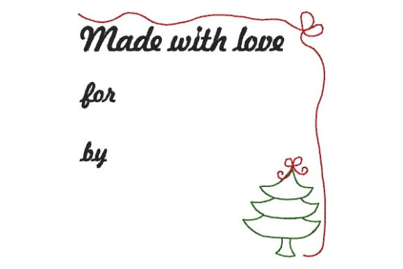 Label Work & Occupation Embroidery Design By Sookie Sews