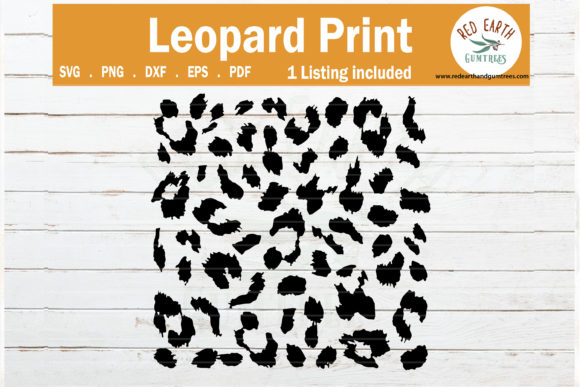 Leopard Spots Print, Cheetah Print Graphic Crafts By redearth and gumtrees