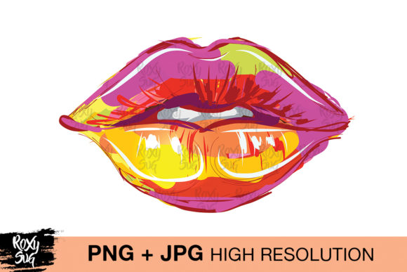 Print on Demand: Lips Clipart Sublimation Designs Graphic Crafts By roxysvg26
