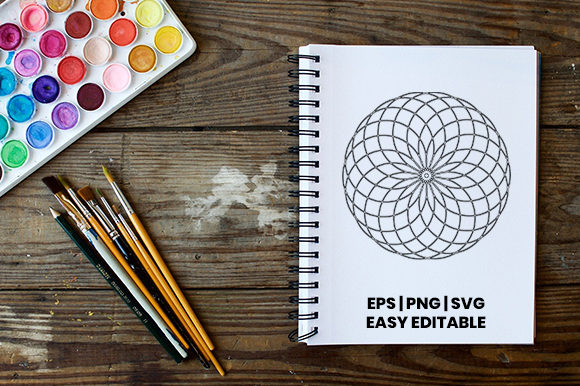 Download Free Mandala Template Bundle Graphic By Masyafi Creative Studio for Cricut Explore, Silhouette and other cutting machines.