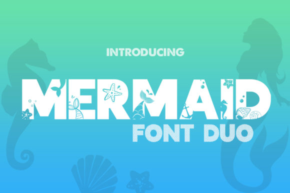 Print on Demand: Mermaid Display Fuente Por Salt & Pepper Designs