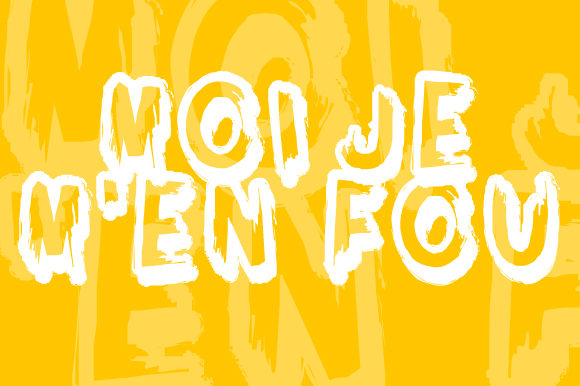 Print on Demand: Moi Je M'en Fou Display Font By qkila