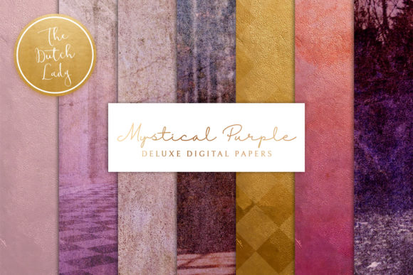 Print on Demand: Mystical Purple Digital Backgrounds Graphic Textures By daphnepopuliers