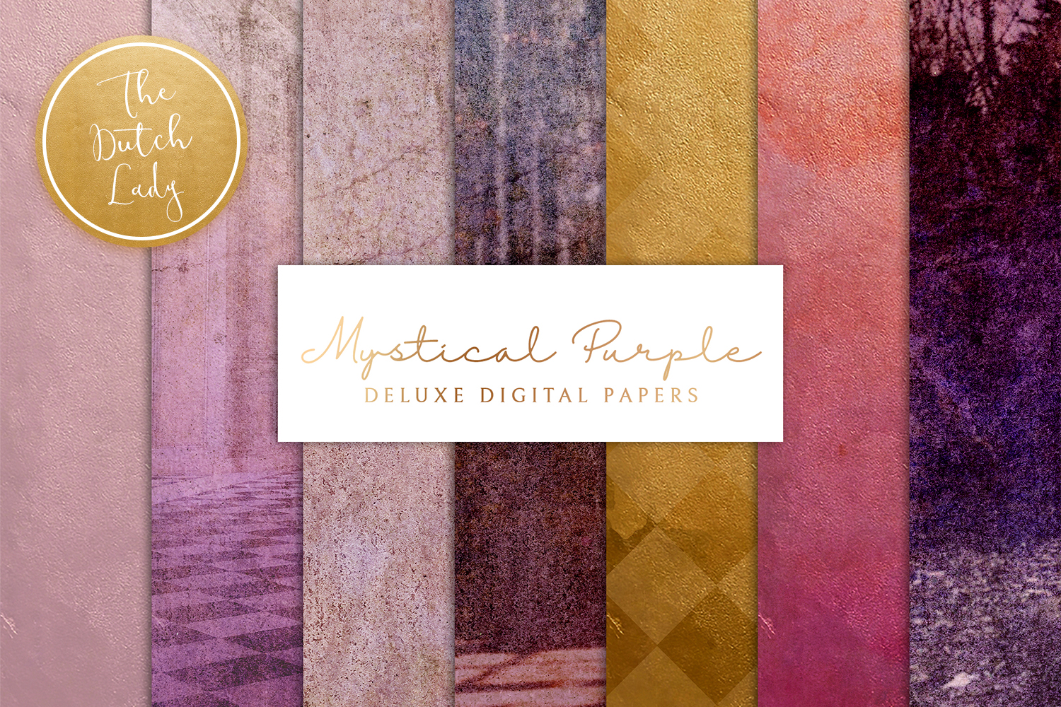 Mystical Purple Digital Backgrounds Graphic By Daphnepopuliers