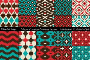 Native American Seamless Patterns Graphic Patterns By Melissa Held Designs