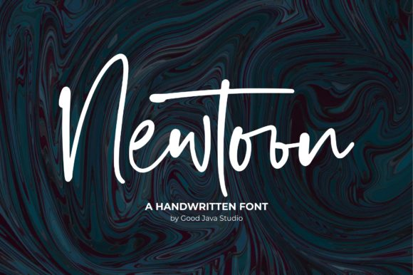 Print on Demand: Newtoon Script & Handwritten Font By goodjavastudio