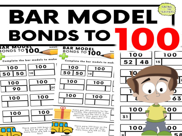 Number Bonds to 100 Worksheet Graphic 1st grade By Saving The Teachers