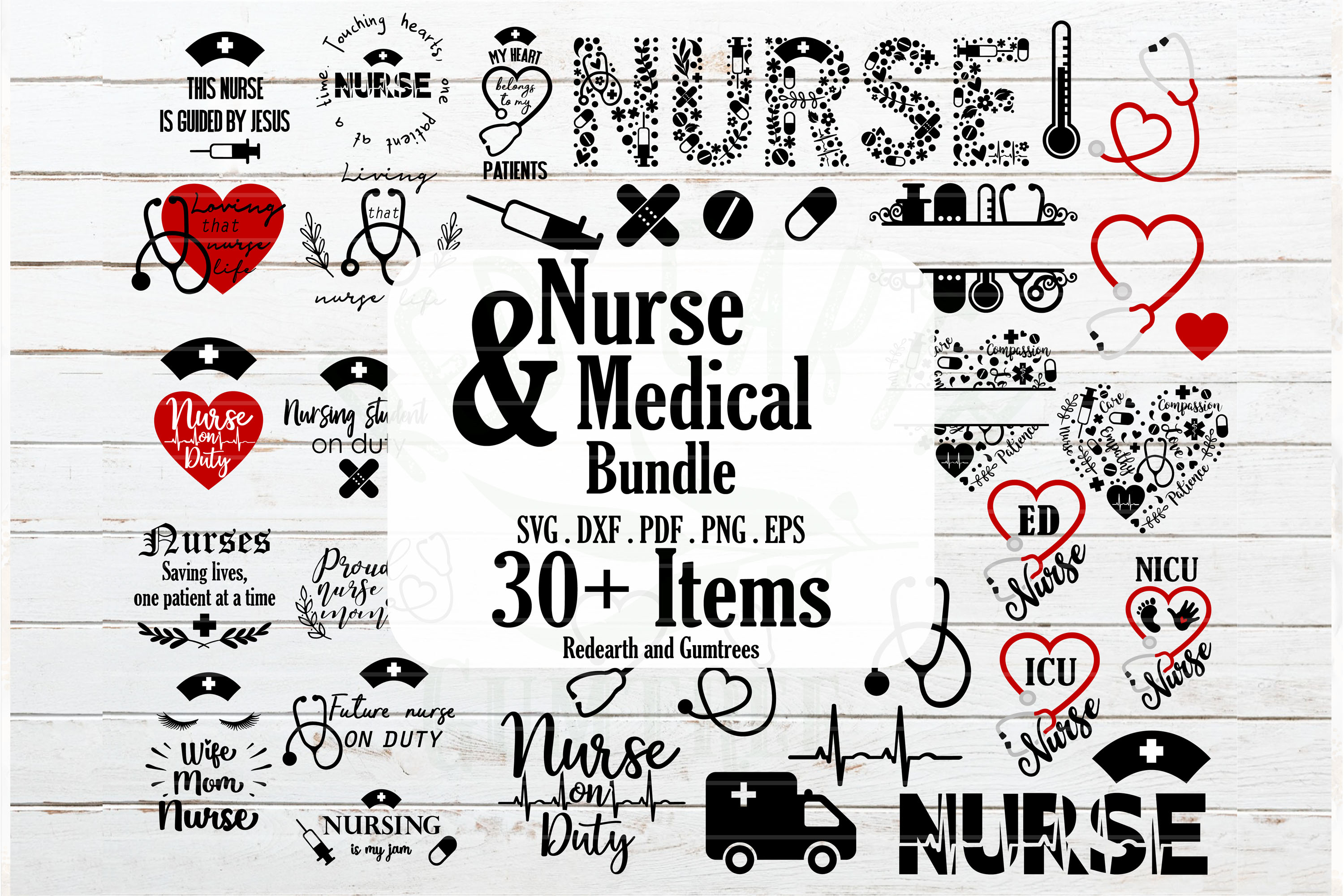 Nurse And Medical Bundle Graphic By Redearth And Gumtrees