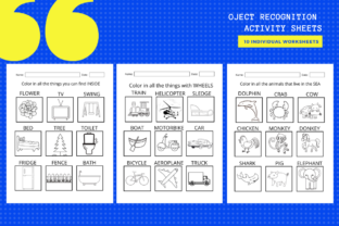 Print on Demand: Object Recognition Activity Worksheets Graphic Teaching Materials By MarinovaDesigns