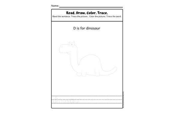 Read. Draw. Color. Trace. Graphic PreK By lifeandhomeschooling