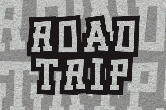 Print on Demand: Road Trip Display Font By qkila