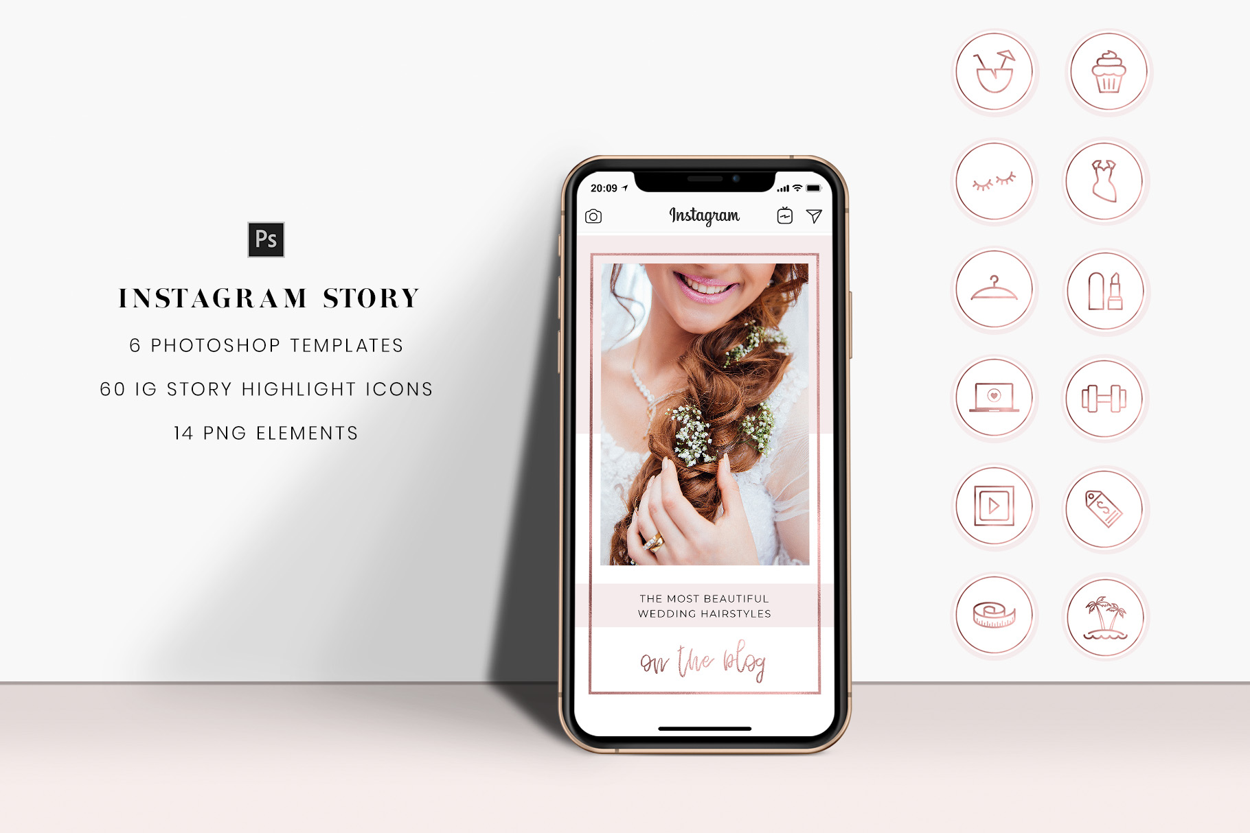 Download Free Rose Gold And Pink Instagram Stories Graphic By Stylishdesign for Cricut Explore, Silhouette and other cutting machines.