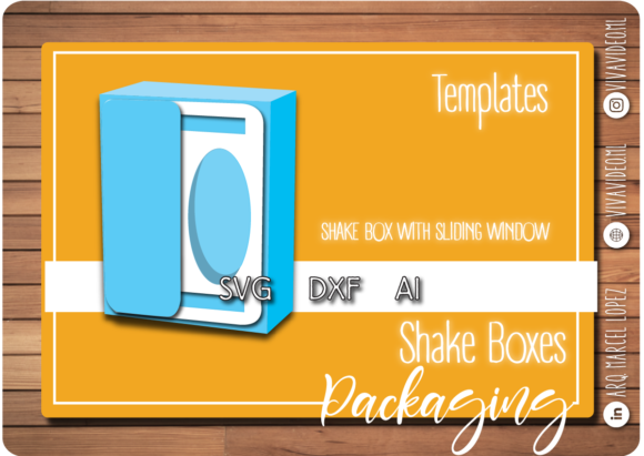 Shake Box with Sliding Window Graphic Graphic Templates By Marcel de Cisneros