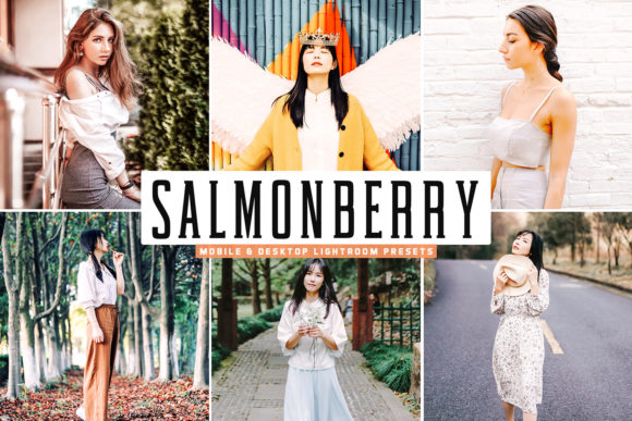 Print on Demand: Salmonberry Lightroom Presets Pack Graphic Actions & Presets By Creative Tacos