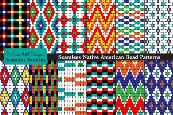 Seamless Tribal Bead Patterns Graphic Patterns By Melissa Held Designs - Image 1