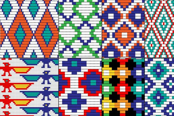 Seamless Tribal Bead Patterns Graphic Patterns By Melissa Held Designs - Image 2