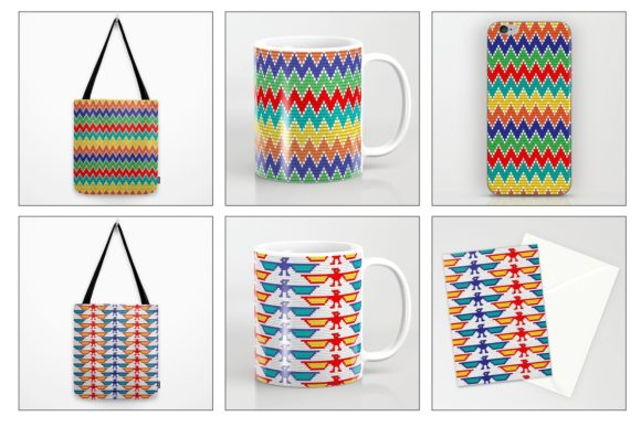 Seamless Tribal Bead Patterns Graphic Patterns By Melissa Held Designs - Image 3