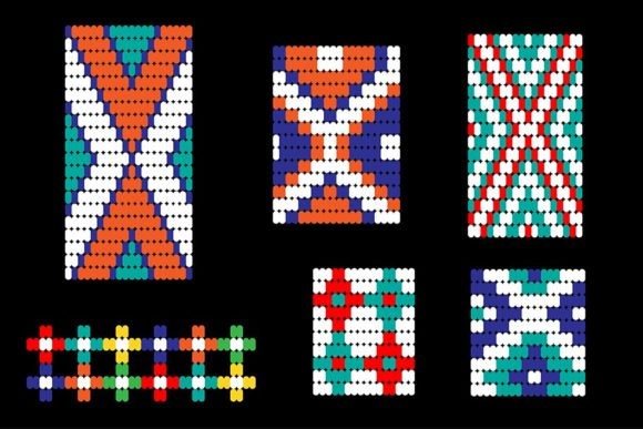 Seamless Tribal Bead Patterns Graphic Patterns By Melissa Held Designs - Image 4