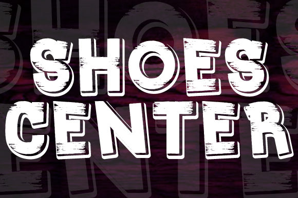 Print on Demand: Shoes Center Display Font By qkila