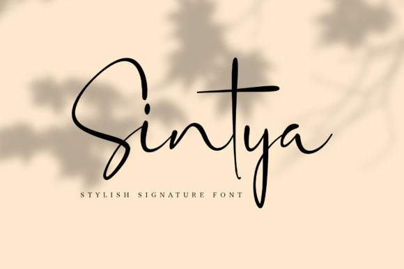 Print on Demand: Sintya Script & Handwritten Font By peterdraw