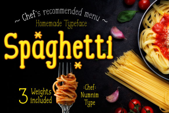 Print on Demand: Spaghetti Serif Font By numnim