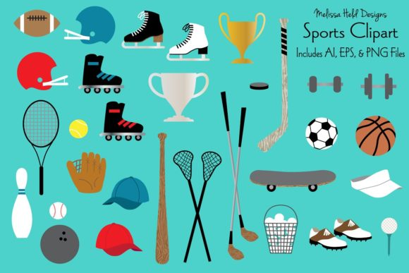 Download Free Sports Clipart Grafik Von Melissa Held Designs Creative Fabrica for Cricut Explore, Silhouette and other cutting machines.