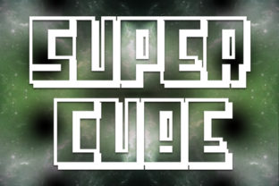Print on Demand: Super Cube Display Font By qkila 1