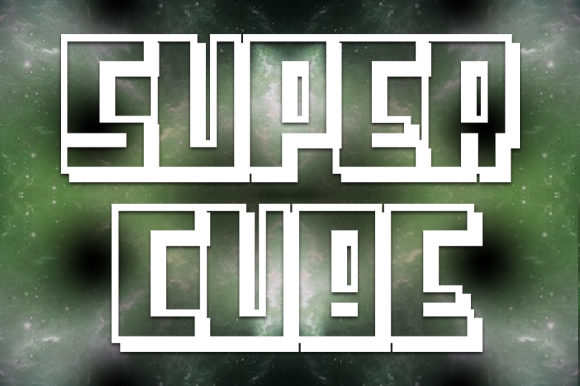 Print on Demand: Super Cube Display Font By qkila - Image 1