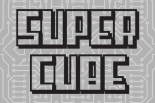 Print on Demand: Super Cube Display Font By qkila 2