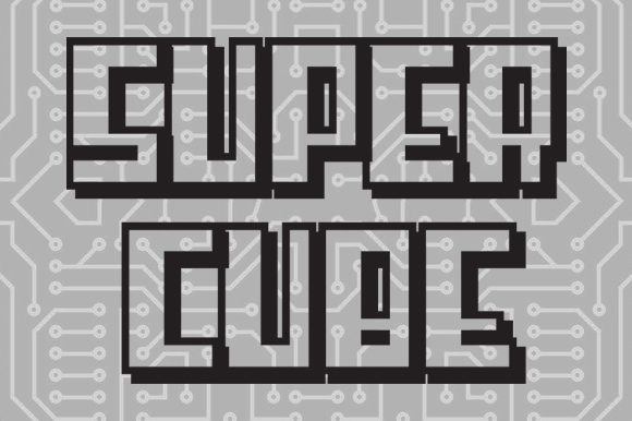 Print on Demand: Super Cube Display Font By qkila - Image 2