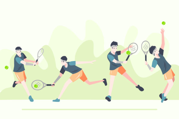 Download Free Tennis Ball Flat Design Graphic By Geadesign Creative Fabrica for Cricut Explore, Silhouette and other cutting machines.
