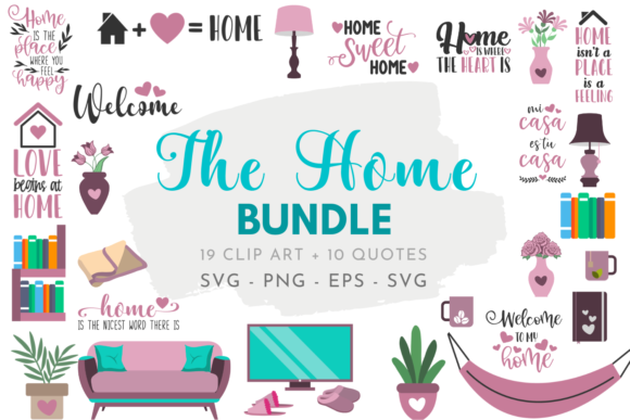 The Home Bundle Graphic Crafts By Graphipedia