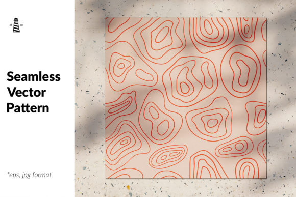 Print on Demand: Topographic Map Pattern Graphic Patterns By northseastudio