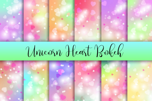 Unicorn Heart Bokeh Background Graphic Backgrounds By PinkPearly